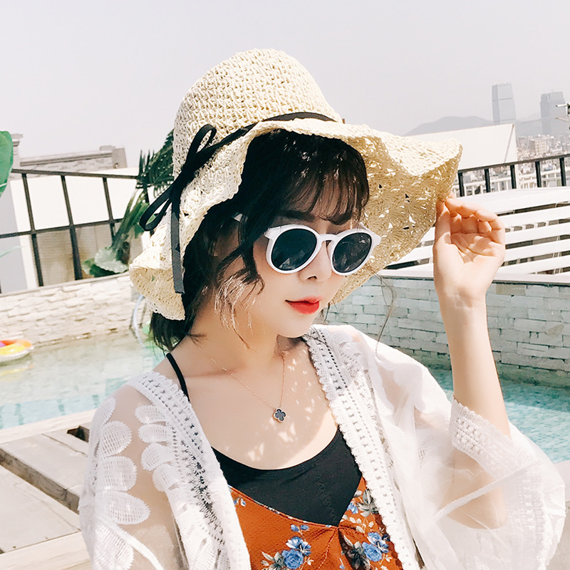 Hat other Beige Khaki Navy cream skin pink rubber red Average size Straw hat Spring summer autumn winter female leisure time Middle aged young couple