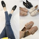 Low top shoes 35 36 37 38 39 40 Other / other Pink Black off white Square head Flat bottom PU Deep mouth Low heel (1-3cm) PU Spring of 2018 Trochanter Korean version Adhesive shoes Youth (18-40 years old) Solid color TPU Single shoes Metal decoration PU daily Face dressing
