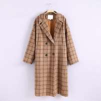 woolen coat Autumn of 2018 S M As shown in the figure wool 31% (inclusive) - 50% (inclusive) Medium length lattice