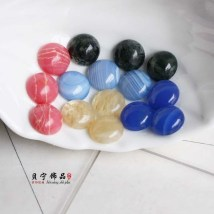 Other DIY accessories Loose beads Natural crystal / semi precious stone RMB 1.00-9.99 12mm red stone ring face / one 12mm blue stone ring face / one 12mm light blue stone ring face / one 12mm wire drawing crystal ring face / one 12mm water grass agate ring face / one other