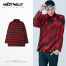 T-shirt Youth fashion Bright red routine M L XL HEYBIG Long sleeves Door collar standard Other leisure autumn BF1158CJ teenagers routine Hip hop 2018 cotton washing Designer brand