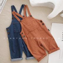 trousers 007 female 73cm 80cm 90cm 100cm 110cm Denim blue dark orange Korean version