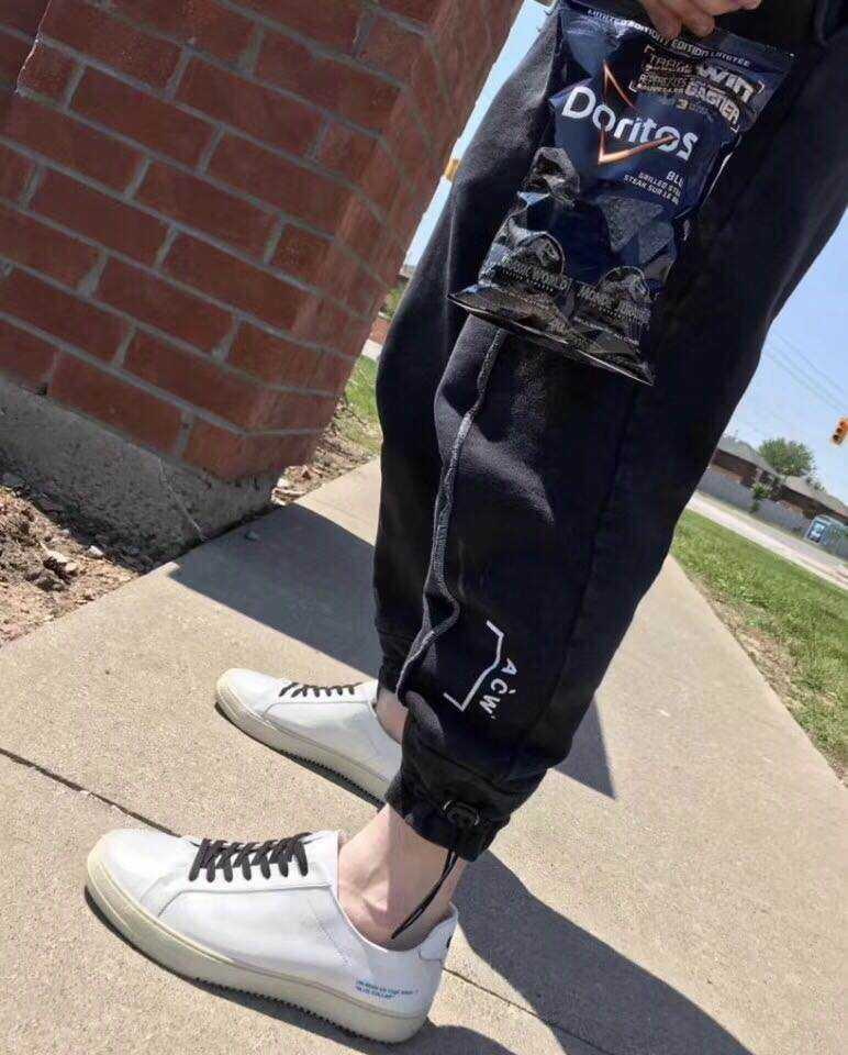 Casual pants Others Fashion City black S M L XL Ninth pants Other leisure easy