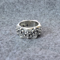 Ring / ring Silver ornaments 301-400 yuan Other / other No.21, No.23, No.20, No.21 brand new Europe and America male Silver inlaid gems other 99 Zuyin