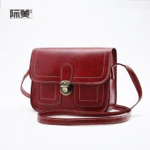 Bag The single shoulder bag PU Small square bag Other / other brand new Japan and South Korea in leisure time soft Cover type no Solid color nothing