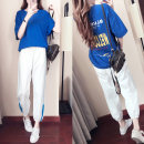 Casual suit Summer of 2018 S M L XL XXL Blue coat and white trousers Naiiu / naiyou