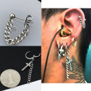 Earrings Alloy / silver / gold RMB 1.00-9.99 Love the Dragon brand new male Japan and South Korea goods in stock Fresh out of the oven Not inlaid Cross / crown / Roman numerals One hundred and eighty-three