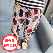 trousers Other / other female 80cm 90cm 100cm 110cm 120cm 130cm Pink Blue summer Korean version There are models in the real shooting middle-waisted Cotton 90% other 10% 00