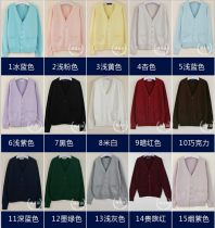 sweater Autumn of 2018 XS S M L XL 2XL Long sleeves Cardigan singleton  Regular cotton 95% and above V-neck Regular Sweet routine Solid color Straight cylinder Regular wool Keep warm and warm 25-29 years old