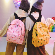 Backpack oxford Other / other Strawberry [white] pineapple [yellow] Flamingo [pink] lollipop [gray] banana [blue] popsicle [black] brand new in zipper leisure time Double root Japan and South Korea soft youth no Soft handle Fruits Yes female Water splashing prevention Vertical square polyester fiber