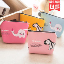 wallet Short Wallet PU Other / other brand new Cartoon female zipper Animal design other Dumpling shape youth printing canvas E0964 printing