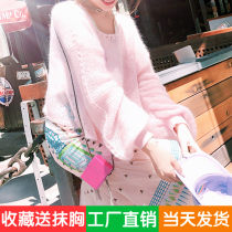 Wool knitwear XS S M L Summer of 2018 Spot water tender pink blue spot Long sleeve Sleeve Conventional models Single conventional street Loose other