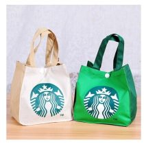 Lunch box bag Two hundred and fifty-six Off white green