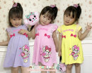 Dress Yellow violet Pink Other / other female 100cm 110cm 120cm 130cm Cotton 100%