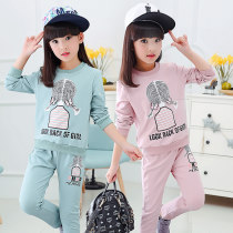 suit Other / other Green pink female spring and autumn motion Long sleeve + pants 2 pieces routine There are models in the real shooting Socket nothing
