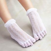 Socks / base socks / silk socks / leg socks female Five basic indexes Average size Black sky white pink complexion 1 pair ultrathin Middle cylinder summer Sweet velvet Five toe socks