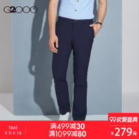Western-style trousers G2000 Business gentleman Black / 99 34/175 eighty-three million one hundred and fifty-one thousand one hundred and one Polyester 65% viscose 35% Summer of 2018 Same model in shopping mall (sold online and offline)