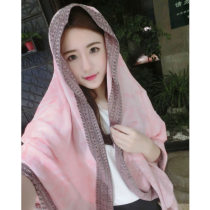 Scarf / silk scarf / Shawl cotton Pink Spring and summer female Shawl sunshade solar system rectangle Student youth middle age Geometric pattern tassels 90cm 180cm 81% (inclusive) - 95% (inclusive) Ninety-nine