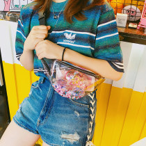 Bag Chest pack PVC other Other / other Transparent black edge laser brand new Japan and South Korea in leisure time hard zipper no Single root Yes