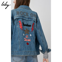 short coat Fall of 2018 XSSMLXL 419 Cowboy Blue Long sleeve conventional conventional Single Loose other Commuting POLO collar Single-breasted letter Lily / Lily 25-29 years old 118339G3907 embroidered 100% cotton Mall with the paragraph (both online and offline sales)