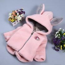 Cotton padded jacket oterh Rabbit coat Khaki rabbit coat grey rabbit coat Pink 6 ᦇ suitable for height about 70 ᦇ 8 ᦇ suitable for height about 80 ᦇ 10 ᦇ suitable for height about 90 ᦇ 12 ᦇ suitable for height about 100 ᦇ 14 ᦇ suitable for height about 110 No detachable cap Cotton 96% and above other