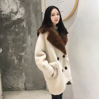 leather and fur Winter 2020 Other / other Off white, camel S,M,L Medium length Long sleeves commute other routine other wool Korean version YD201907