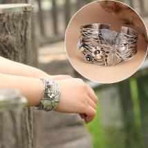 Bracelet серебро 401-500 юаней Фиолетовый цикады Браслет весит около 54 г новый Национальный ветер акции женщина Сетевые функции неокантованный другое Серебро 925