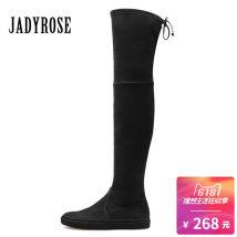 Boots Thirty-four black Elastic cloth Women's