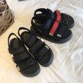 Sandals 01 color 02 black Mu Nai Yi Лето 2018 года PU Открытая носка Низкая каблук (1-3 см) Нижнее дно 36 37 38 39 досуг Смешанные цвета липучка резина Клейкая обувь Каждый день Молодежь (18-40 лет) После пустой Низкая помощь Боковой воздух PU ткань A7685