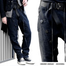 Casual pants Others Youth fashion Basic color (black, gray, white, etc.) Spot 44 50 46 52 thick trousers Other leisure easy No bullet Four seasons youth Japanese Retro 2016 Medium low back Little feet Flax 100% Tapered pants Asymmetric placket with drawcord for waistline adjustment washing hemp
