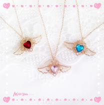 Necklace Alloy / silver / gold RMB 1.00-9.99 Bilandi Pink red blue brand new Japan and South Korea female goods in stock yes Fresh out of the oven 21cm (inclusive) - 50cm (inclusive) no Gold Plated inlaid artificial gem / semi gem alloy Round bead chain N3048