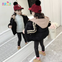 Cotton padded jacket Flower field leaves Pink Black 110cm120cm130cm140cm150cm160cm No detachable cap other female thickening Zipper shirt Korean version There are models in the real shooting Solid color other Class B Crew neck Other 100% Cotton liner HT-MY27859 Other 100% Winter 2017 winter