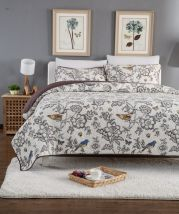 Bed cover cotton Other / other 230cmx250cm Plants and flowers Light grey