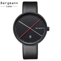 Watch in Europe and America Mineral reinforced glass mirror fashion Genuine Leather Germany stainless steel International Guarantee male Chrono Bergmann/ bergman 30 meters life waterproof Mechanical movement - automatic mechanical movement 009 AT brand new Circular 42mm Pointer Buckle 10mm ordinary