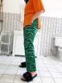 Casual pants [spot] green [pre-sale 7-day delivery] green Average size Summer of 2018 Ninth pants Wide leg pants Natural waist street routine Hua-41-15