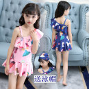 Bathing suit Polyester fiber 85% other 15% Blue swimsuit + Blue Cap Pink Swimsuit + pink cap blue swimsuit + blue goggles + Swimming Cap Pink Swimsuit + pink goggles + swimming cap + earplugs Other / other Children's one-piece swimsuit Female Class B