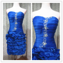 Dress / evening wear Wedding adult party company annual meeting performance S M royal blue Brocade