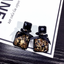 Earrings Alloy / silver / gold 10-19.99 yuan Other / other black brand new female Japan and South Korea goods in stock