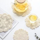 Coaster circular 14cm (yellow color) 18cm (yellow color) Cotton and hemp Self made pictures Wood and wind Nordic style like a breath of fresh air yes