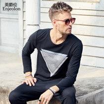 T-shirt Youth fashion white routine 175/L Enjeolon / enjeolon RST7129-1 Cotton 95% polyurethane elastic fiber (spandex) 5% Fall 2017