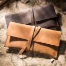 wallet Long Wallet cowhide Ingenuity brand new Europe and America female Strip extraction Solid color youth Q049 top layer leather