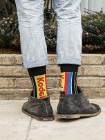 Socks / base socks / silk socks / leg socks lovers Marslab Average size Kod6k matching sticker bag 1 pair routine Middle cylinder Four seasons stripe