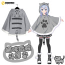 Cartoon T-shirt / Shoes / clothing cloak Over 14 years old Cat's backyard goods in stock [spot] fleece / grey meow [spot] fleece / khaki meow [spot] thin / grey meow [one size fits all] Winter and Autumn Japan female Enjoy Sweet Japanese cotton
