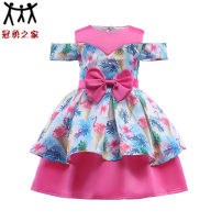 Dress Pink roses, broken flowers, yellow, blue, love, light blue, pink rose red. 100# 110# 120# 130# 140# 150# Other/others Polyester 100% Female summer princess Pleated cotton two thousand one hundred and forty-three other Class B