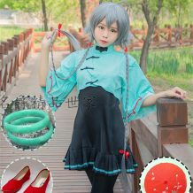 Cosplay women's wear Spot Set 14 years old and above LMS XL One Size Anime Television Games Small red umbrella single shoot not package mail Luotian clothing dress + coat + socks red shoes single shoot not package mail wig headdress BRACELET * 2 single shoot not package mail Lovely wind Luo Tianyi