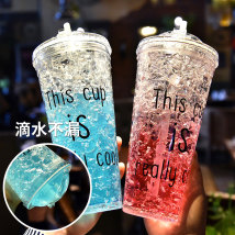 Handy cup Korean style 501ml (inclusive) - 600ml (inclusive) Plastic Covered others Chinese Mainland Summer ice cup Self made pictures RMB 10-19.9 like a breath of fresh air the post-90s generation Daily gift giving outdoors yes