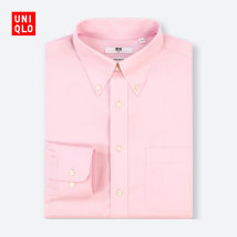 shirt Youth fashion UNIQLO / UNIQLO 170/92A/M 12 peach routine UQ404401666 Cotton 100% Spring of 2018 Same model in shopping mall (sold online and offline)