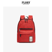 Backpack polyester fiber PLORY gules large campus European and American fashion female POAK7FF003 Autumn and winter 2017 Same model in shopping mall (sold online and offline)