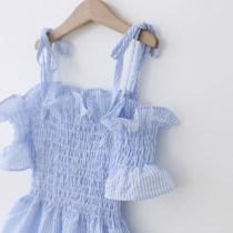 Dress Pink Blue ggym for kids female 100cm (label 100) 110cm (label 110) 120cm (label 120) 130cm (label 130) 140cm (label 140) Other 100% summer princess Skirt / vest stripe cotton A-line skirt 18041252(XY) other
