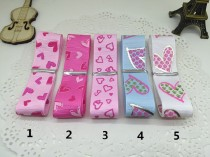 Other DIY accessories Other accessories other 0.01-0.99 yuan 1 Pink Solid love 2 rose red solid love 3 hollow love 4 blue printed love 5 white printed love 5 colors each one meter